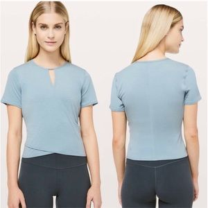 LULULEMON Blue Round Trip Short Sleeve Top